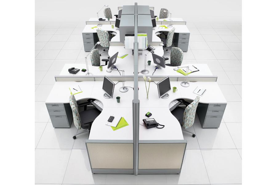Escritorio modular System 3 - 8 usuarios