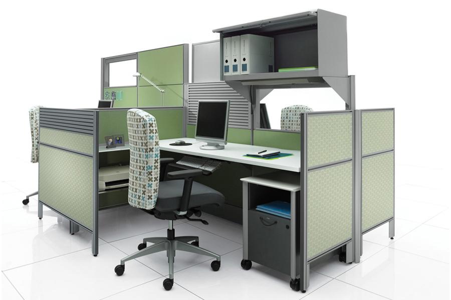Escritorio modular System 3 Diet - 4 usuarios